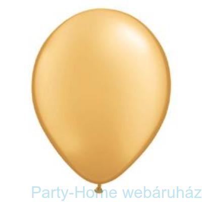 Metallic Gold Kerek Lufi