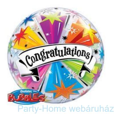 Congratulations Banner Gratulálunk Bubble Lufi