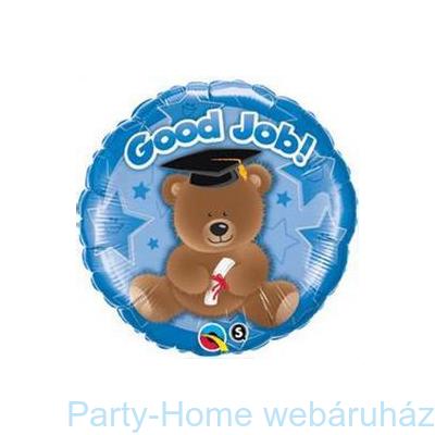 Good Job Bear Blue Ballagási Fólia Lufi