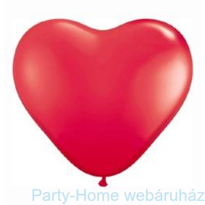 Red Szív Latex Lufi