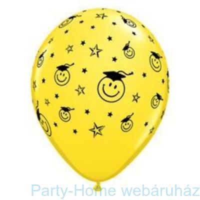 Smile Face Yellow Ballagási Lufi