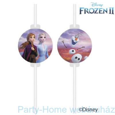 Frozen 2 - Jégvarázs 2 Papír Szívószál - 4 db-os szett