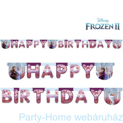 Frozen 2 - Jégvarázs 2 Parti Happy Birthday Girland 2,1 méter