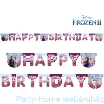 Frozen 2 - Jégvarázs 2 Parti Happy Birthday Girland 2,1 méter
