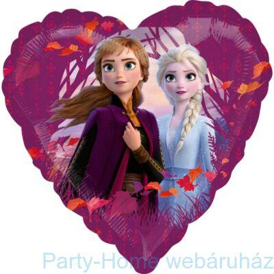 18 inch-es Frozen 2 Heart - Jégvarázs 2 Szív Fólia Léggömb