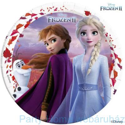 Frozen 2 - Jégvarázs 2 Papír Parti Tányér - 8 db-os, 23 cm