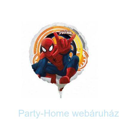 9 inch-es Spiderman Ultimate Pókember Pálcás Fólia Lufi