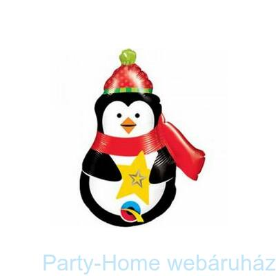 Precious Penguin Pingvin Fólia Lufi Karácsonyra pálcás