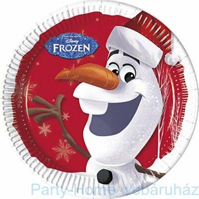 Frozen Olaf Christhmas Jégvarázs Olaf Karácsonyi Parti Tányér