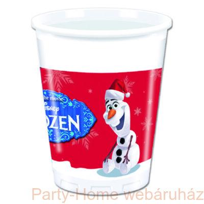 Frozen Olaf Christhmas Jégvarázs Olaf Karácsonyi Parti Pohár