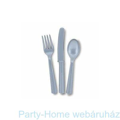Silver Műanyag Parti Evőeszköz Válogatás
