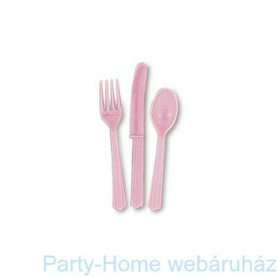Halvány Rózsaszín Műanyag Parti Evőeszköz Válogatás
