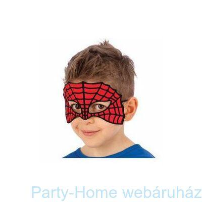 Piros-Fekete Pókháló Mintás Maszk Gyerekeknek