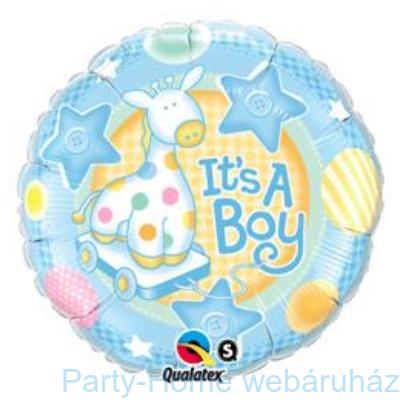 It is A Boy Soft Giraffe Baby Fólia Lufi Babaszületésre