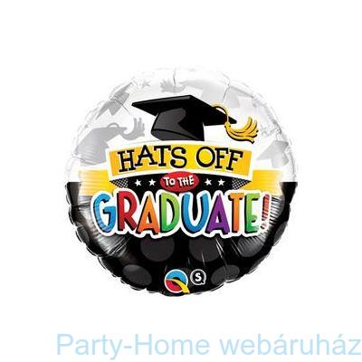 Hats Off To The Graduate! Ballagási Fólia Lufi