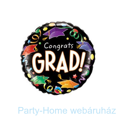 Congrats Grad! Caps&Streamers Ballagási Lufi