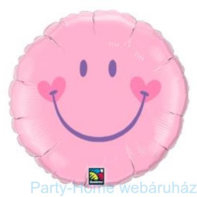 Mosolygó Arc, Lány Sweet Smile Face Pink Baby Fólia Lufi
