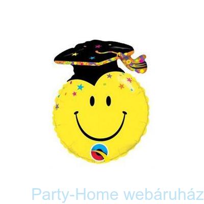 Smile Face Party Grad Ballagási Fólia Lufi