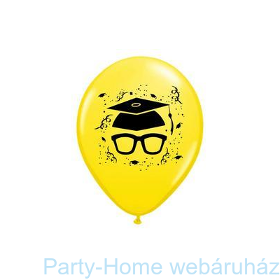 Szemüveges Yellow Ballagási Lufi