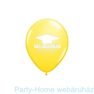 Ballagásodra Szeretettel! Yellow Fehérrel Ballagási Lufi