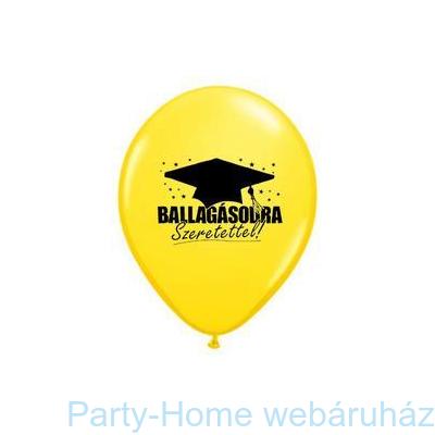 Ballagásodra Szeretettel Yellow Ballagási Lufi