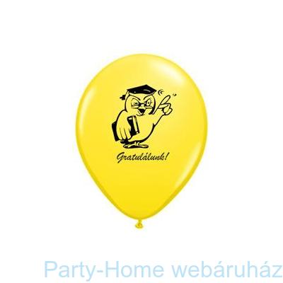Bagoly Gratulálunk! Yellow Ballagási Lufi
