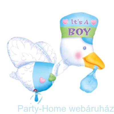 It is a Boy Bundle of Joy Stork Super Shape Fólia Lufi Babaszületésre