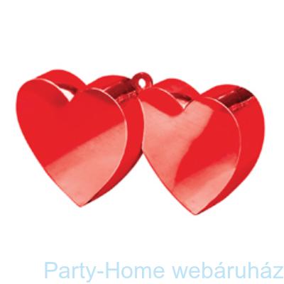 Piros Dupla Szív Léggömbsúly