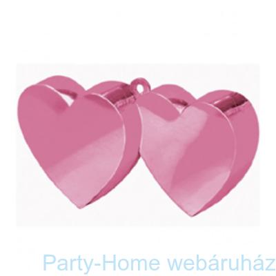 Rózsaszín (pink) Dupla Szív Léggömbsúly