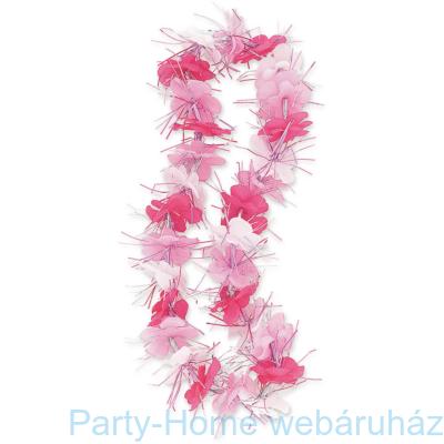 Rózsaszín Hawaii Parti Nyakfüzér Lánybúcsúra