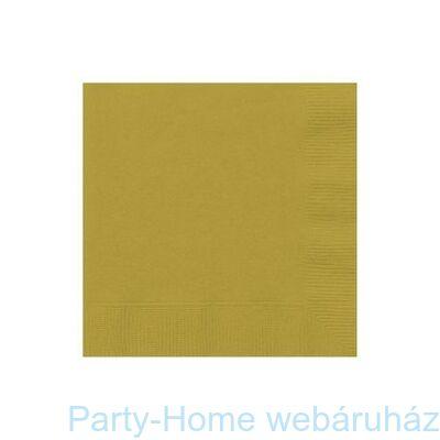 Gold Arany Papír Parti Szalvéta
