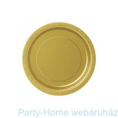 Gold Arany Papír Parti Tányér