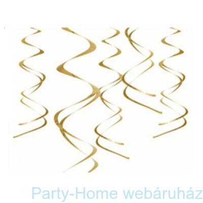 Arany Spirális Függő Dekoráció