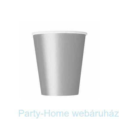 Silver Ezüst Papír Parti Pohár