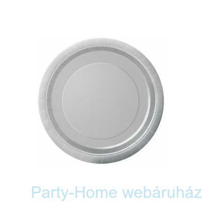 Silver Ezüst Papír Parti Tányér