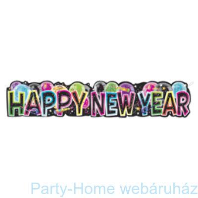 Happy New Year! Feliratú Mintás Banner