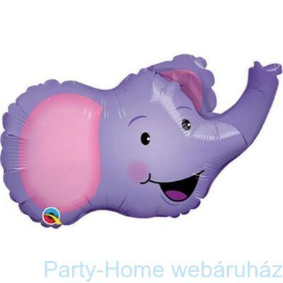 14 inch-es Elefánt Fej - Ellie the Elephant Fólia Lufi pálcás