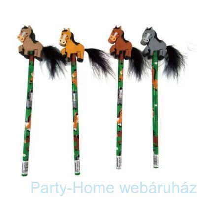 Lovacska mintás ceruza radírral, lófarokkal