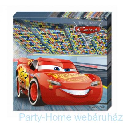 Cars 3 - Verdák 3 Parti Szalvéta - 33 x 33 cm, 20 db-os