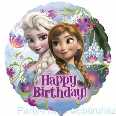 18 inch-es Jégvarázs - Frozen Happy Birthday Fólia Lufi