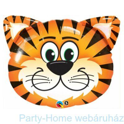 14 inch-es Tickled Tiger - Tigris Fej Fólia Lufi pálcás