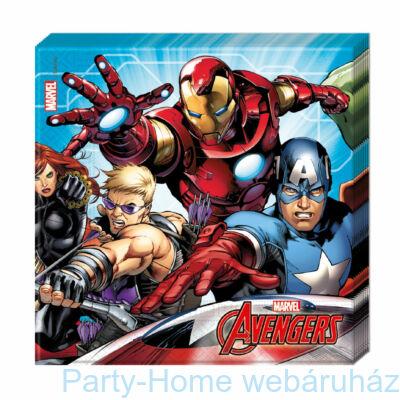 Bosszúállók (Avengers) Parti Szalvéta - 33 cm x 33 cm, 20 db-os