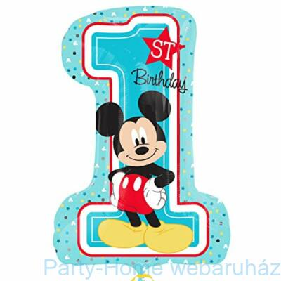 Mickey 1st Birthday Super Shape Fólia Lufi