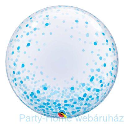 24 inch-es Blue Confetti Dots Deco Bubble Lufi