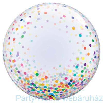 24 inch-es Colorful Confetti Dots Deco Bubble Lufi