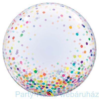 24 inch-es Colorful Confetti Dots Deco Bubble Lufi