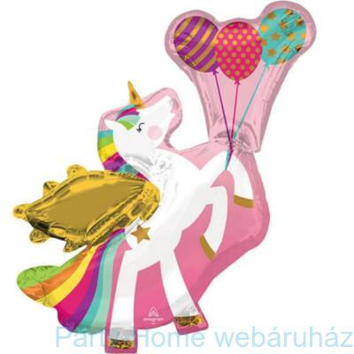 Winged Unicorn - Szárnyas Egyszarvú Lufikkal Super Shape Fólia Lufi