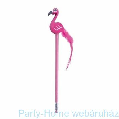 Rózsaszín Flamingó mintás ceruza radírral