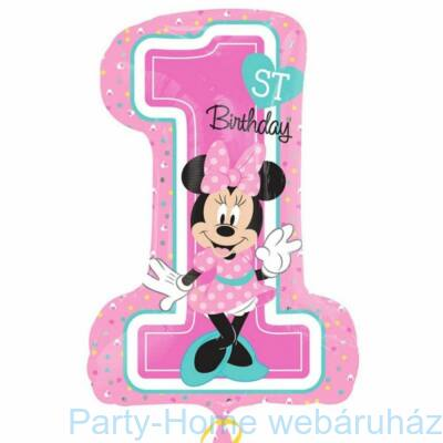 Minnie 1st Birthday Super Shape Fólia Lufi