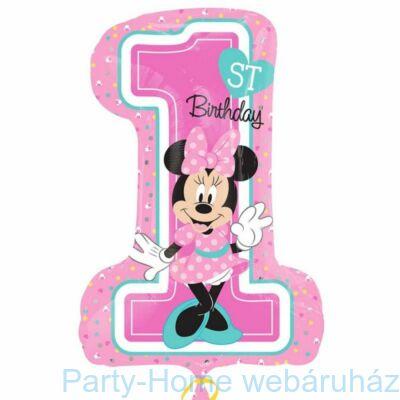 Minnie 1st Birthday Super Shape Fólia Lufi